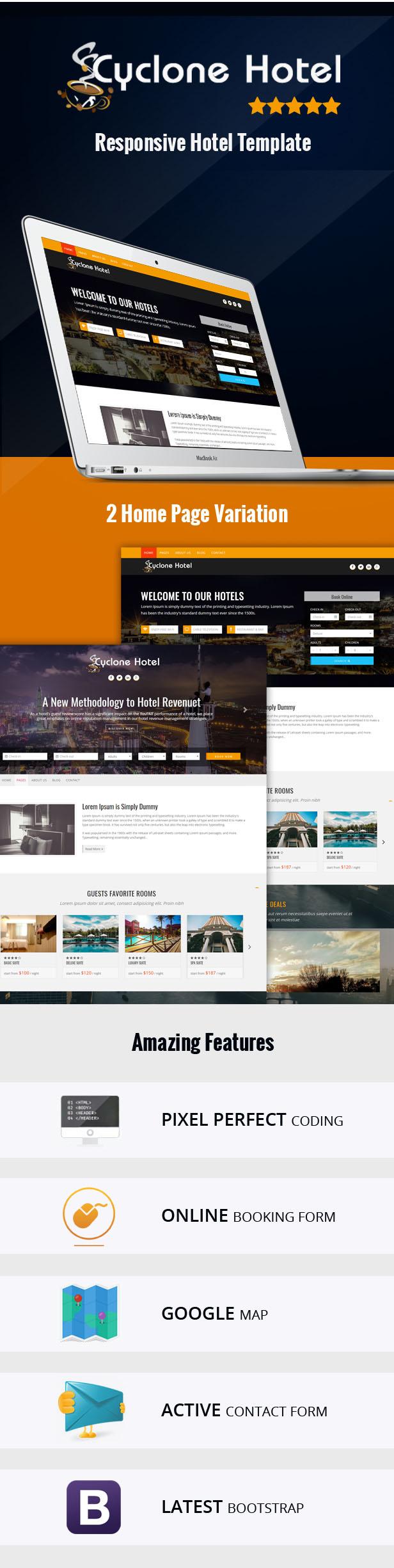 Radisson - Responsive Hotel HTML Template - 1
